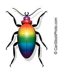 Beetle Regenbogenfarbe.