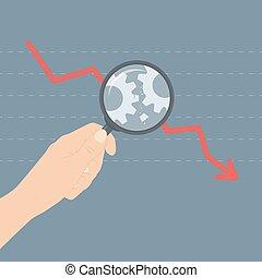 begriff, analysieren, krise, abbildung