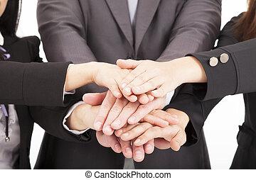 begriff, geschaeftswelt, zusammen, hand, gemeinschaftsarbeit, mannschaft
