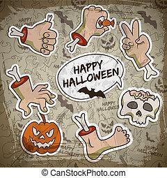 begriff, halloween, gruß