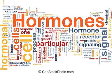 begriff, hormonal, hintergrund, hormone