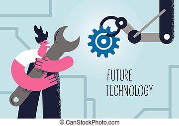 begriff, künstlich, zukunft, intelligenz, technologie