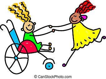 Behinderte Freunde