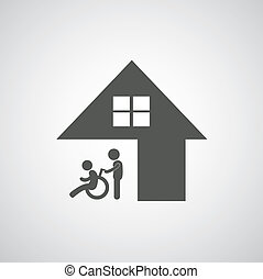 Behindertenpflegeschild.