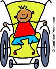Behinderter Junge
