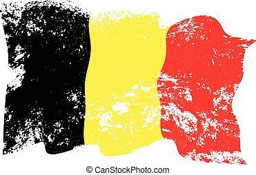 Belgien-Flagge.