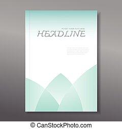 bericht, jährlich, decke, design