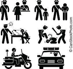 bericht, station, polizei, polizist