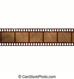 Beschädigte alte Filmstreifen