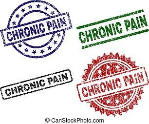Beschädigte CHRONIC-PAIN-Markensiegel