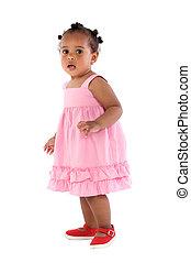 Bezauberndes Baby, pink angezogen