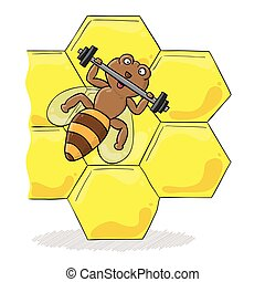 Biene mit Dummkopf