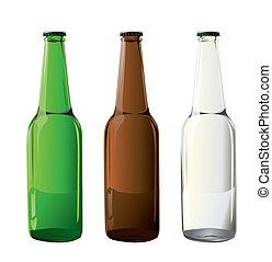 Bierflaschen in Vektor