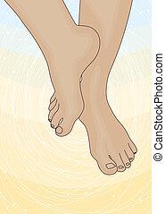 Bild der weiblichen Füße