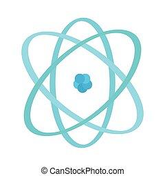 bild, freigestellt, atom