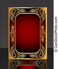 Bild mit Gold(en) Muster und Reflexion