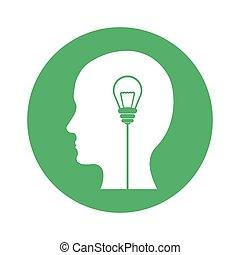 Bilde Gedanken und Ideen Bilddesign.