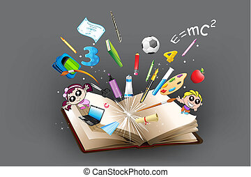 Bildungsgegenstand kommt aus dem Buch