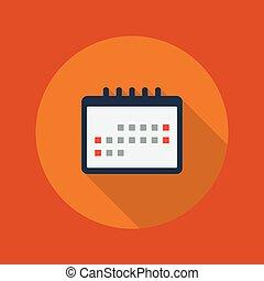 Bildungswohnungen-Ikone. Kalender