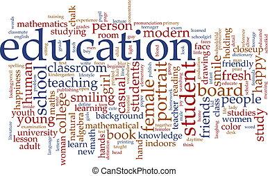 Bildungswortwolke