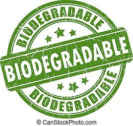 biologisch abbaubar, briefmarke, gummi
