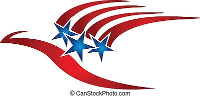 Bird usa flag logo.