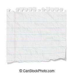 Blanke Notiz - gekleidetes Papier