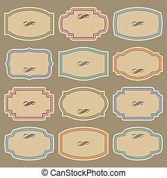 Blanke Vintage-Kennzeichen (Vector)