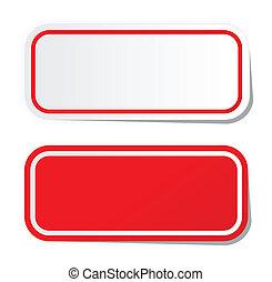 Blanker roter Sticker