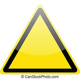 Blankgelbe Gefahrenwarnung