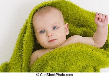 Blaue Augen auch grün