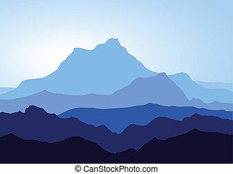 Blaue Berge.