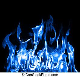 Blaue Flammen.