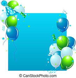 Blaue Geburtstagskarte