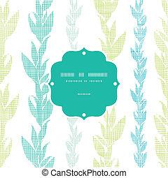 Blaue, grüne Seegras-Reben bilden einen nahtlosen Muster Hintergrund.