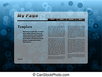 Blaue Webseite