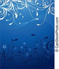 Blauer Blumen Hintergrund