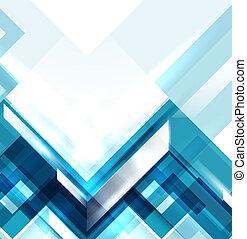 Blauer geometrischer abstrakter Hintergrund