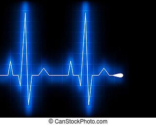 Blauer Herzschlag. Ekg graph. EPS 8