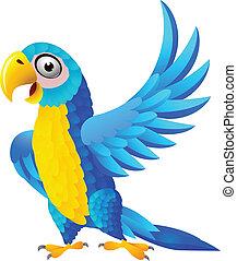 Blauer Macau Cartoon