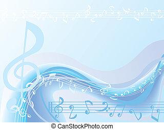 Blauer Musik Hintergrund