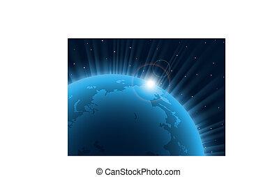 Blauer Planet.