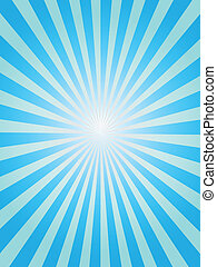 Blauer Sonnenstrahl