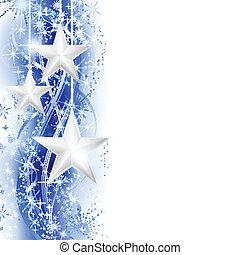 blauer stern, umrandungen, silber