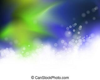 Blauer und grüner Hintergrund abbrechen