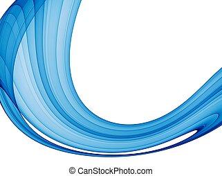 blaues, abstrakt, welle