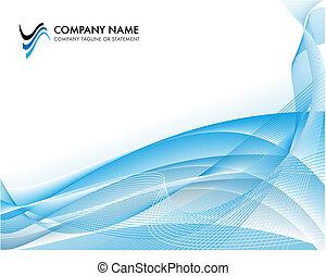 blaues, begriff, hintergrund, geschaeftswelt, -, wasserlandschaft, hell, schablone, korporativ