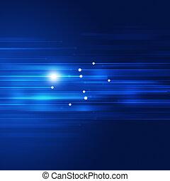 blaues, bewegung, abstrakt, technologie, hintergrund