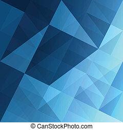 blaues, eps10, abstrakt, hintergrund., vektor, dreiecke