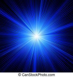 blaues, farbe, eps, burst., design, 8